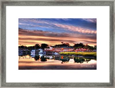 Murrells Inlet Sunset 3 Framed Print by Mel Steinhauer