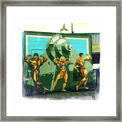 Muscle Beach Framed Print by Nina Prommer