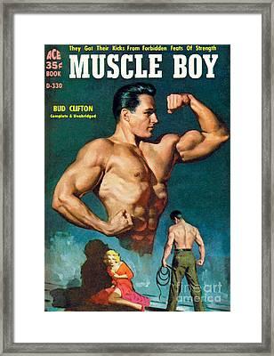 Muscle Boy Framed Print