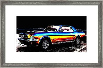 Muscle Car Mustang Framed Print