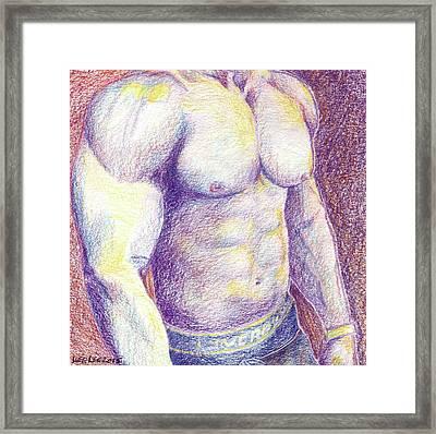 Muscle Framed Print