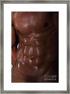 Muscle Man Framed Print by Mark Ashkenazi