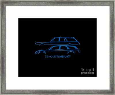 Muscle Wagon Silhouettehistory Framed Print by Gabor Vida