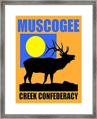 Muscogee-2 Framed Print by Otis Porritt