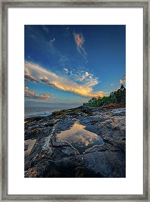 Muscongus Bay Reflections Framed Print by Rick Berk