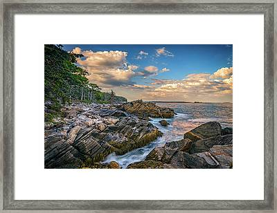 Muscongus Bay Framed Print by Rick Berk