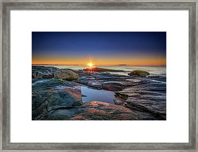Muscongus Bay Sunrise Framed Print