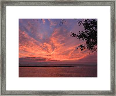 Muscongus Sound Sunrise Framed Print