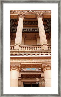 Framed Print featuring the photograph Museum And Art Gallery Entrance by Baggieoldboy