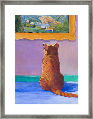 Museum Cat 2 Framed Print by Jimmie Trotter