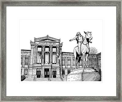 Museum Of Fine Arts Boston Framed Print by Conor Plunkett
