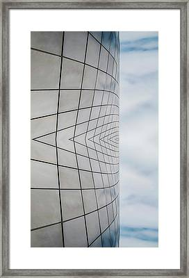 Museum Of Glass Reflection Framed Print