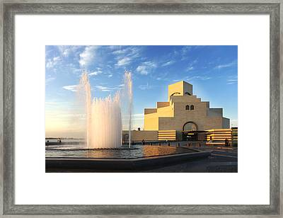 Museum Of Islamic Art Doha Qatar Framed Print
