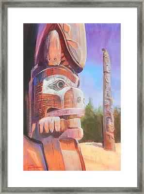 Museum Of Man Framed Print by Ron Wilson