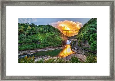 Mushroom Cloud Over Upper Falls Framed Print