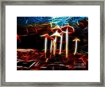 Mushroom Digital Art Framed Print by Kami McKeon