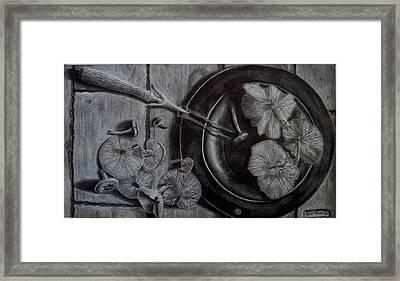 Mushroom Dinner Framed Print by Eric Hausel