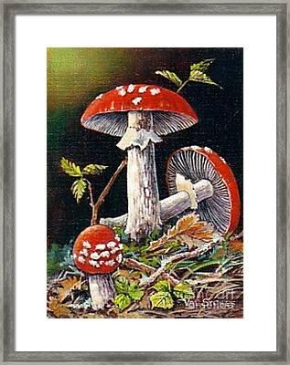 Mushroom Magic Framed Print by Val Stokes