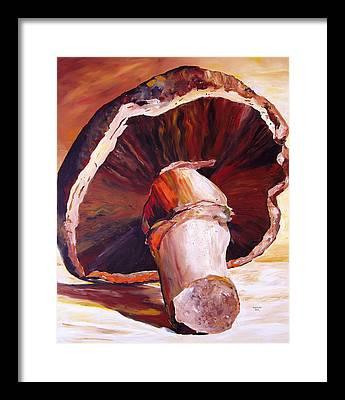 Mushrooms Framed Prints