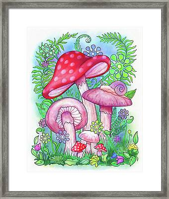Mushroom Wonderland Framed Print by Jennifer Allison