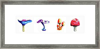 Mushrooms From Space Framed Print by Michael Amos