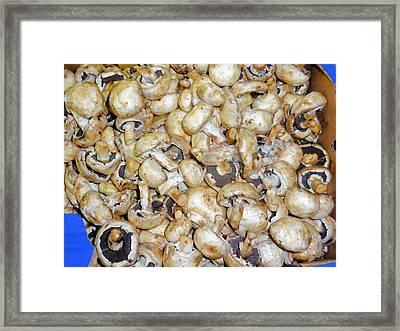 Mushrooms In A Market Framed Print