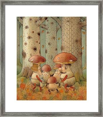 Mushrooms Framed Print by Kestutis Kasparavicius