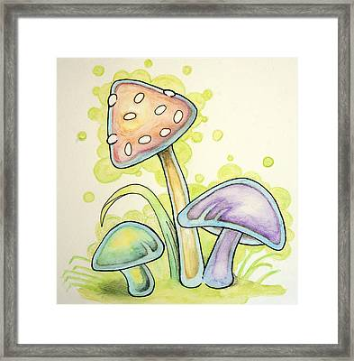 Mushrooms Framed Print by WIlliam Gushue