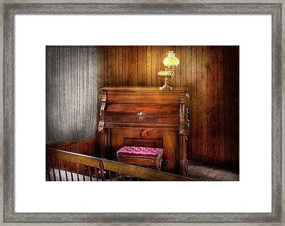 Music - Organist - A Vital Organ Framed Print by Mike Savad