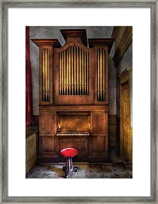 Music - Organist - What A Big Organ You Have  Framed Print by Mike Savad