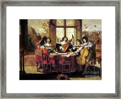 Music, 17th Century Framed Print by Granger