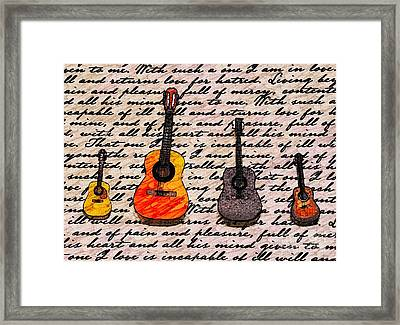 Music And Poetry By Jasna Gopic Framed Print by Jasna Gopic