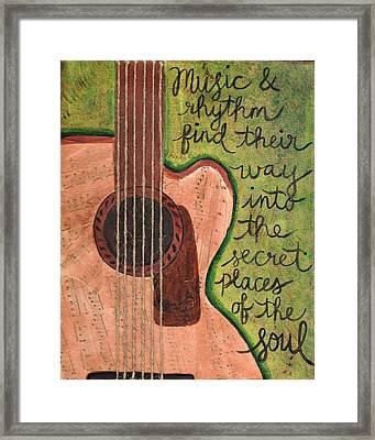 Music And Rhythm Framed Print by Monica Martin