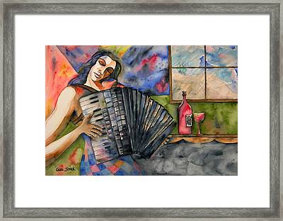 Music And Wine Framed Print by Guri Stark