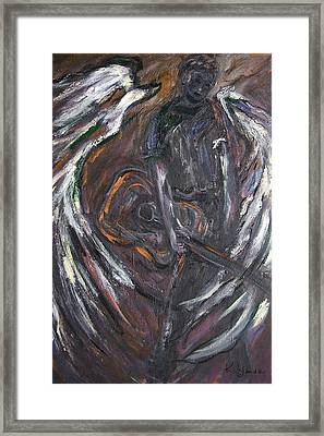 Music Angel Of Broken Wings Framed Print