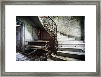 Music At Lost Places Old Abandoned Piano Framed Print