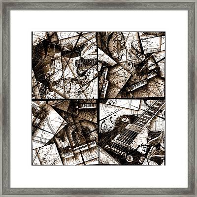 Music Box I Sepia Framed Print by Gary Bodnar