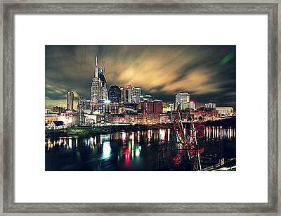 Music City Midnight Framed Print