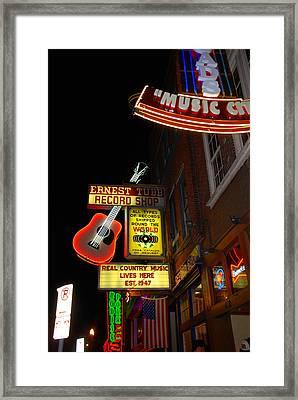 Music City Nashville Framed Print
