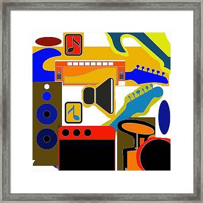 Music Collage Framed Print