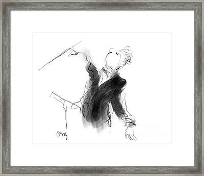 Music Conductor Sketch Framed Print by Paul Miller