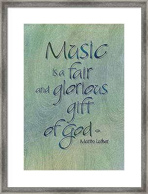 Music Gift Framed Print by Judy Dodds
