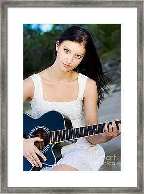 Music Girl Framed Print by Jorgo Photography - Wall Art Gallery