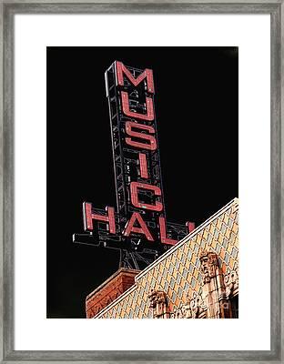 Music Hall Sign Framed Print