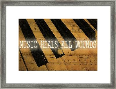 Music Heals All Wounds Framed Print by Dan Sproul