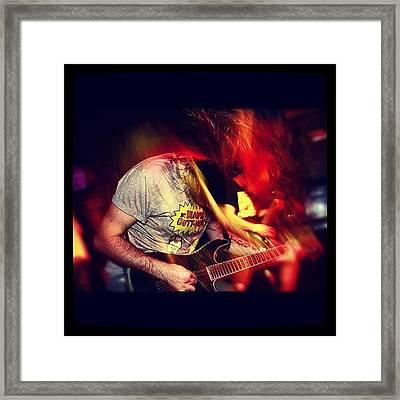 #music #horseintransit #guitar #lights Framed Print