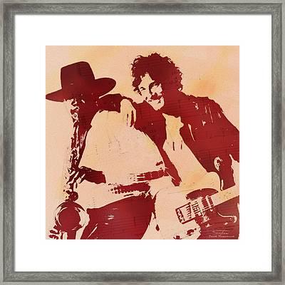 Music Icons - Bruce Springsteen I Framed Print