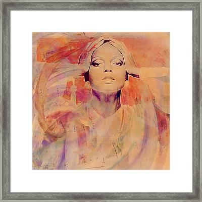 Music Icons - Diana Ross Il Framed Print