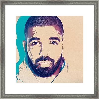 Music Icons - Drake I Framed Print
