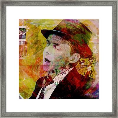 Music Icons - Frank Sinatra Ill Framed Print by Joost Hogervorst